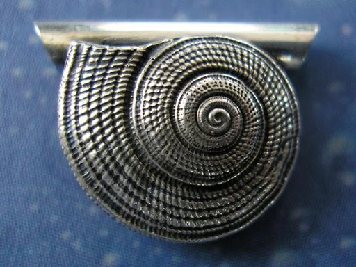 Schnecke Silber Anhänger Strohsonnenuhr