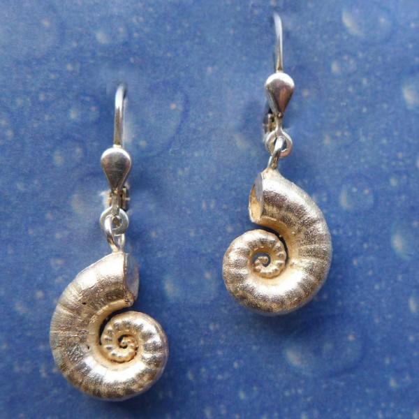 Schnecke Schmuck Silber Ohrringe