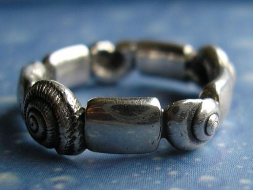 Schnecken Ring Silber Schmuck
