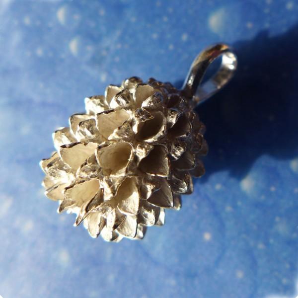 Blütenschmuck Silber Anhänger Same
