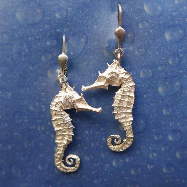 Seepferdchen Ohrring Silber Mädchen s