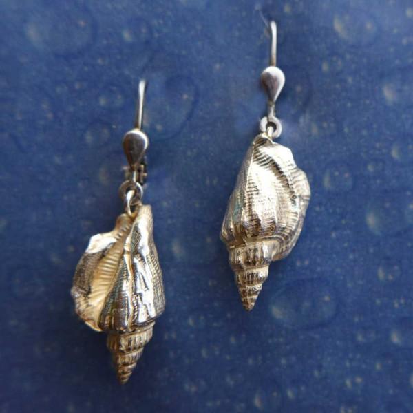 Maritime Schnecke Silber Ohrhänger Bär