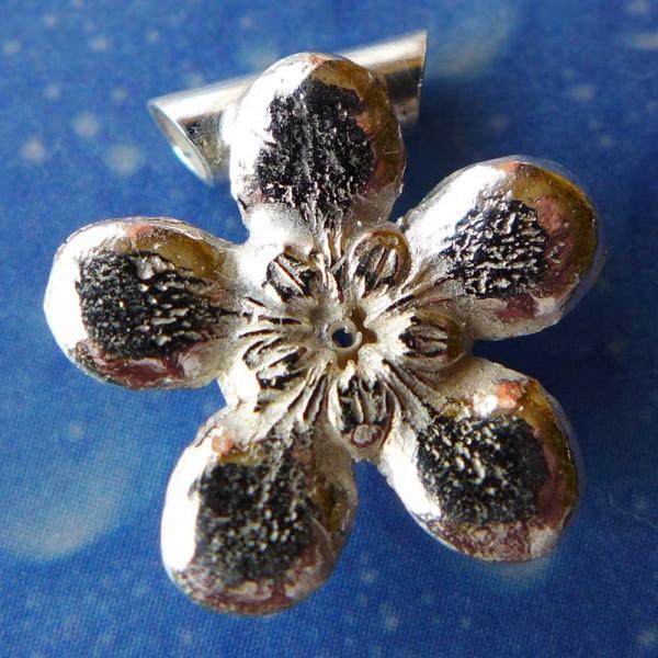Blütenschmuck Jasmin Anhänger Silber