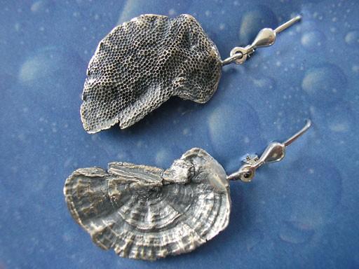 Schmuck Design Baumpilz Ohrhänger Silber