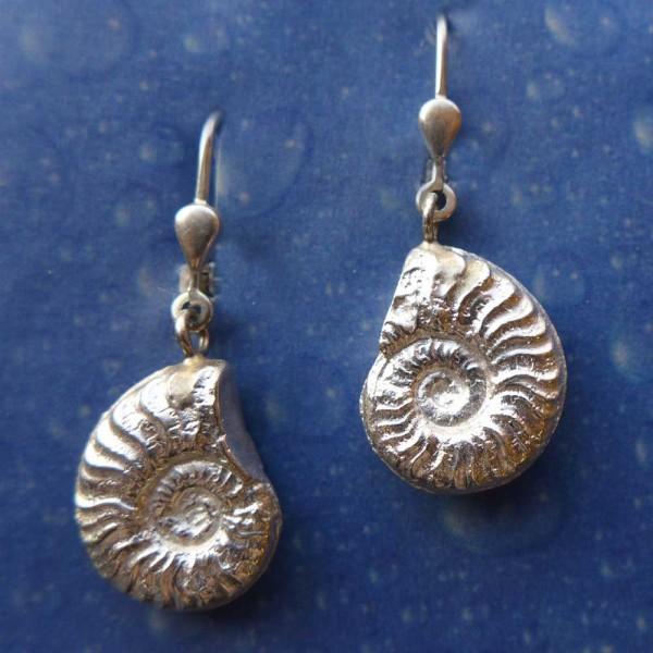 Fossiler Schmuck Ammonit Ohrhänger