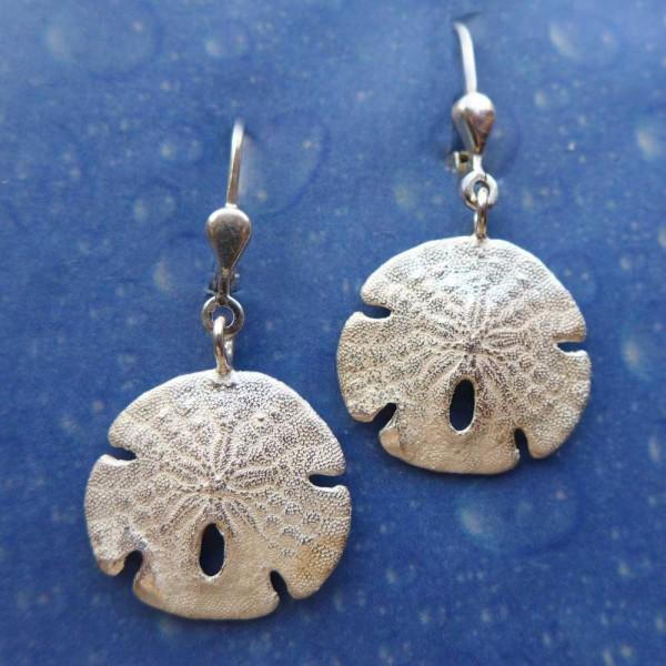 Sanddollar Silber Schmuck Ohrhänger