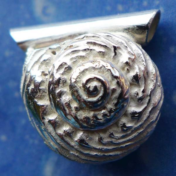 Silber Anhänger Schnecke Knotenknopf