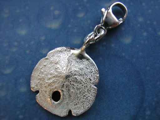 Unterwasser Charms Sanddollar Silber