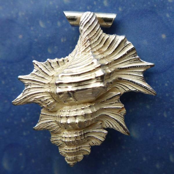 Inselschmuck Anhänger Silber Ahornblatt