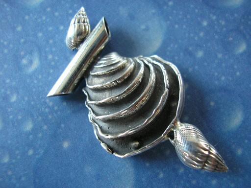 Stufige Venus Muschel Netzreusen Schnecke Anhänger