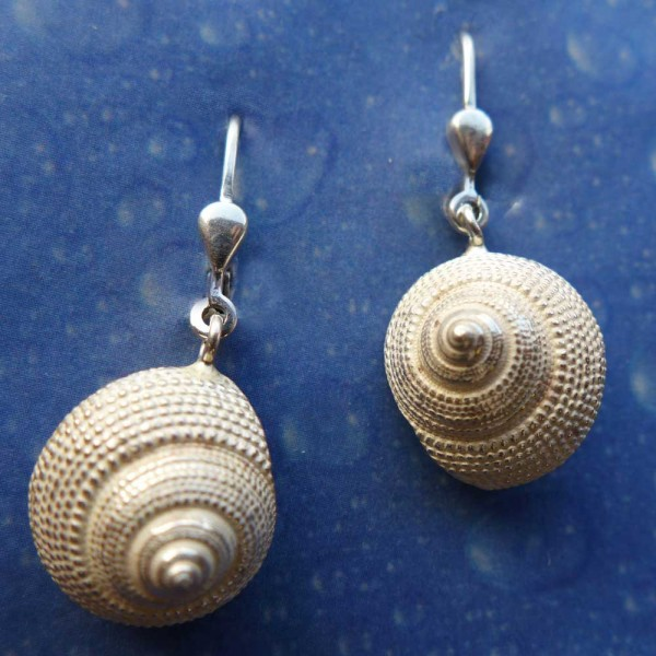 Schnecken Ohrringe Silber Erdbeer