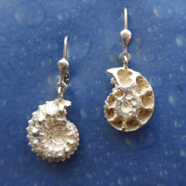 Ammonit Silber Ohrhänger Schmuck