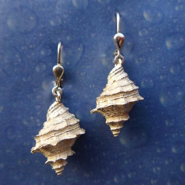 Meeresmotiv Silber Ohrhänger Felsschnecke