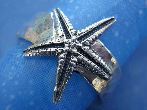 Meeresmotiv Seestern Ring Silber