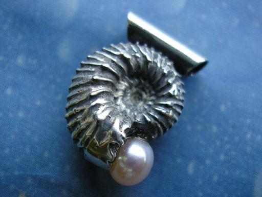 Schmuck Perle Anhänger Ammonit
