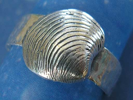 Muschel Ring Silber Schriftvenus