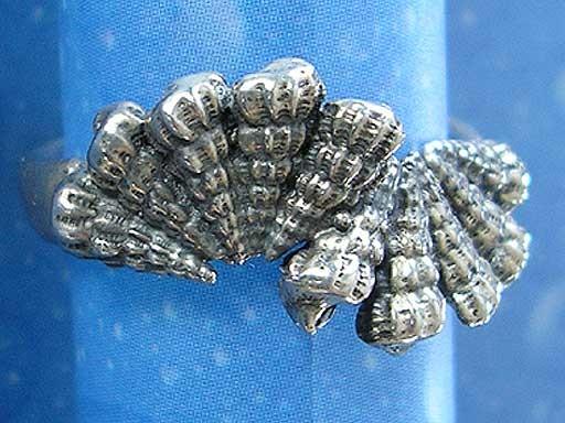 Schnecken Ring Silber Wendeltreppen