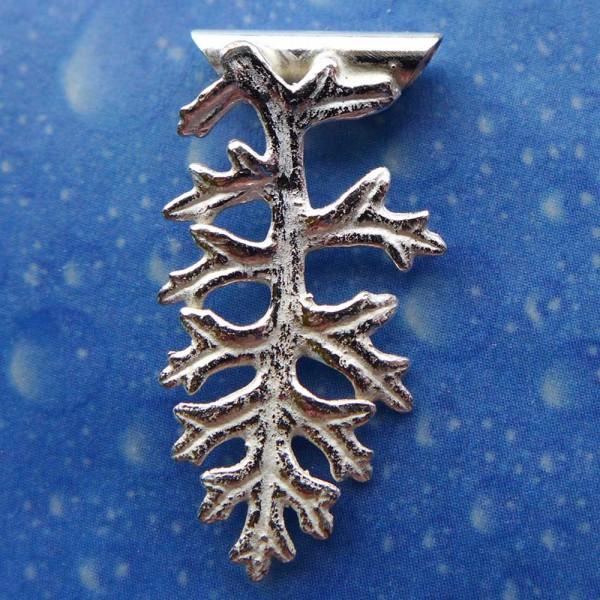 Silber Blatt small Anhänger