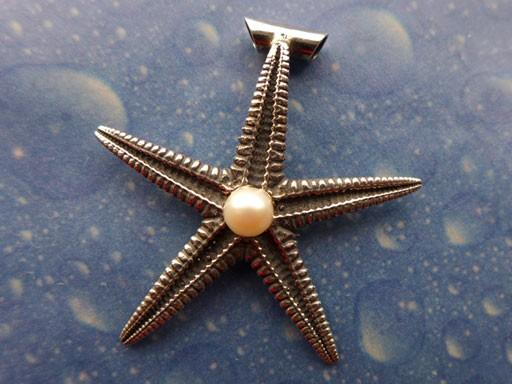 Perlen Schmuck Seestern Anhänger l