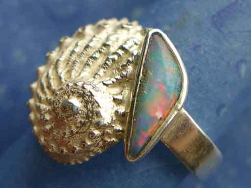Hübsches Meerohr mit Opal Ring