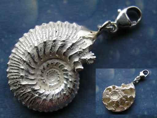Charms Schmuck Silber Ammonit Geschenk
