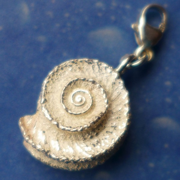 Kettenanhänger Charm Schnecke Silber