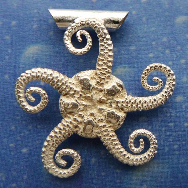 Silber Seestern Kettenanhänger
