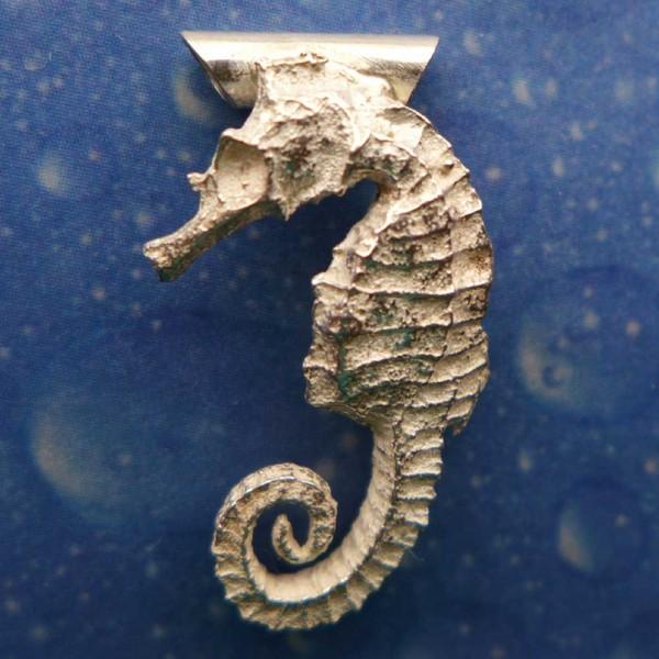 Seepferdchen Schmuck Silber Anhänger