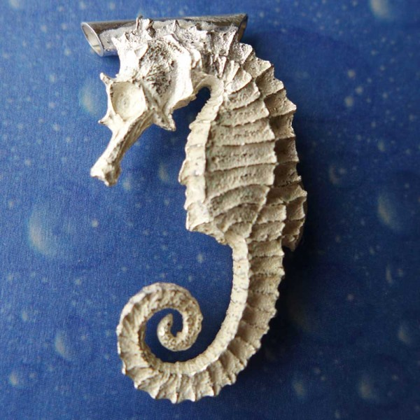 Seepferdchen Silber Anhänger Schmuck