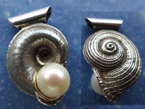 Küstenschmuck Perle Silber Anhänger Nordsee
