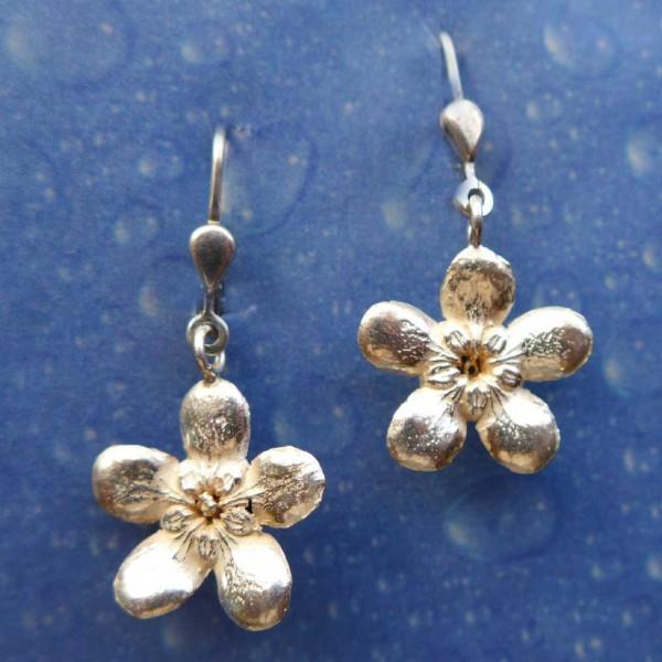 Blüte Silber Ohrring Jasmin