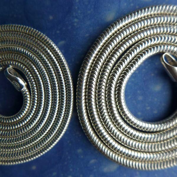 Echte Schlangenkette - sehr flexibel und biegsam