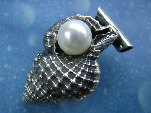Perlen Anhänger Schmuck Tritonshorn